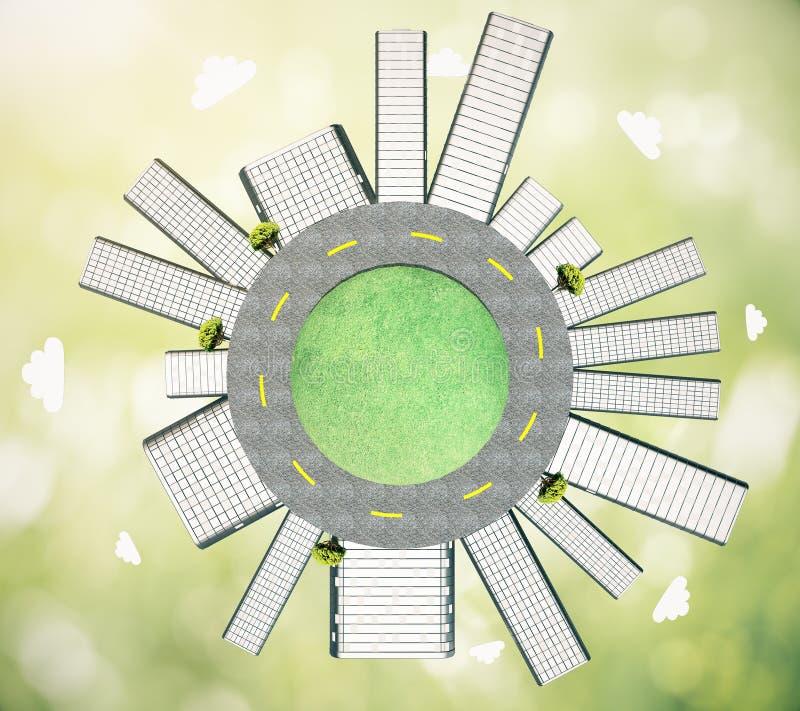 Concepto de la urbanización stock de ilustración