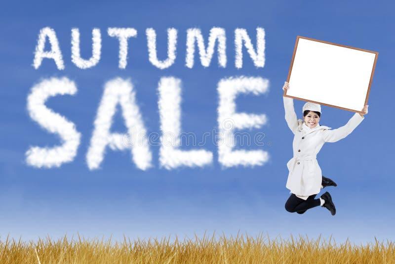 Concepto de la venta del otoño fotografía de archivo