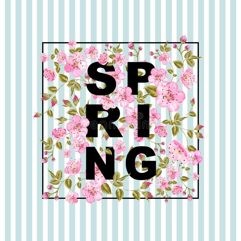 Concepto de la venta de la primavera stock de ilustración