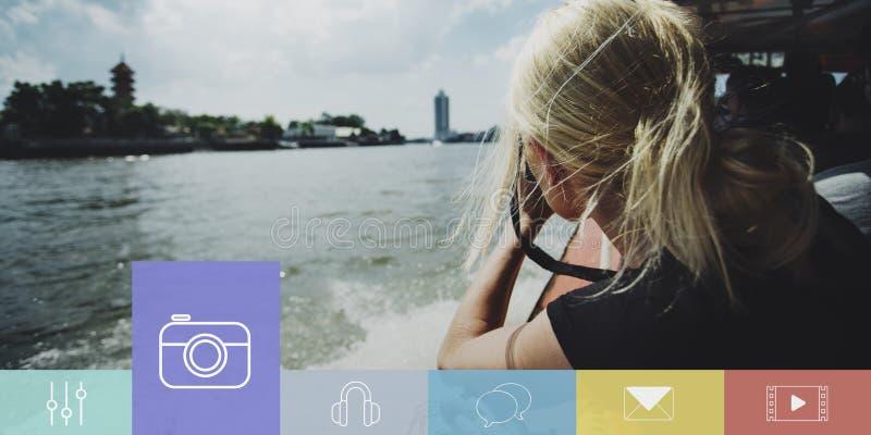 Concepto de la vida de las memorias de los momentos de la captura de la forma de vida fotografía de archivo