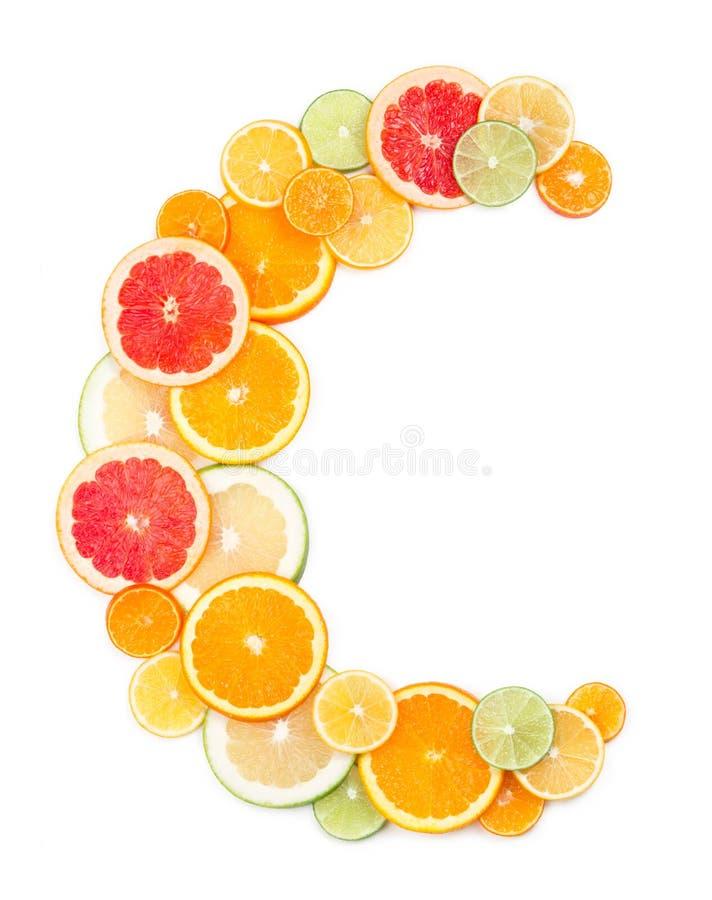 Concepto de la vitamina C imágenes de archivo libres de regalías