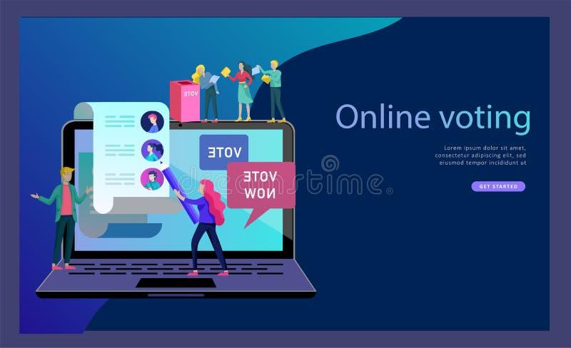 Concepto de la votación y de la elección campaña de la Pre-elección Promoción y publicidad del candidato stock de ilustración