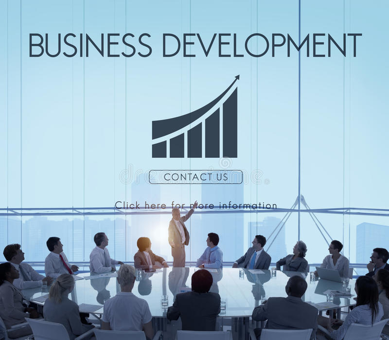 Concepto de lanzamiento de las estadísticas del crecimiento del desarrollo de negocios imagenes de archivo