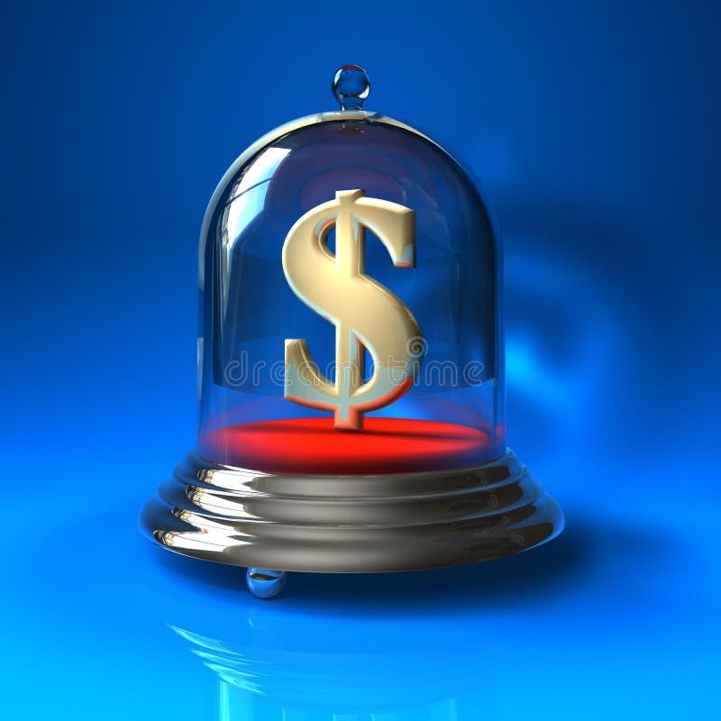 Concepto de las actividades bancarias de la seguridad ilustración del vector