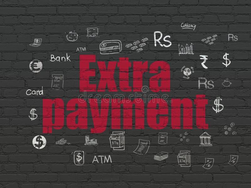 Concepto de las actividades bancarias: Pago adicional en fondo de la pared libre illustration