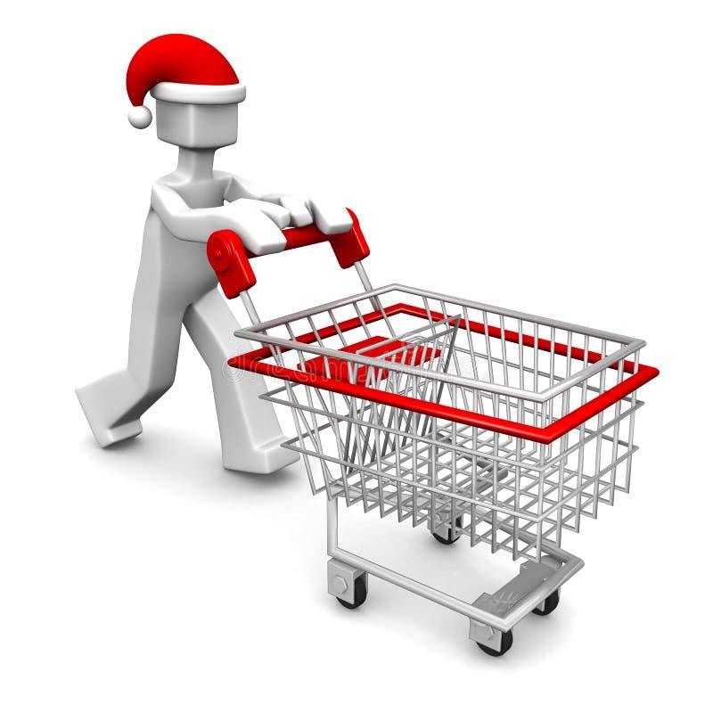 Concepto de las compras de la celebración de la Navidad libre illustration
