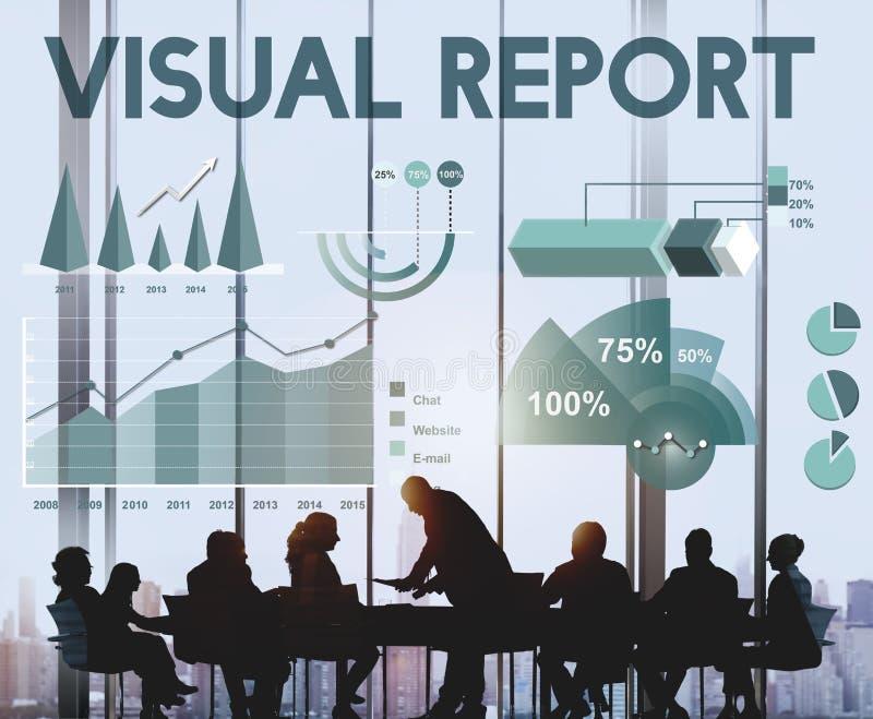 Concepto de las estadísticas del Analytics de los resultados del beneficio de negocio imagen de archivo