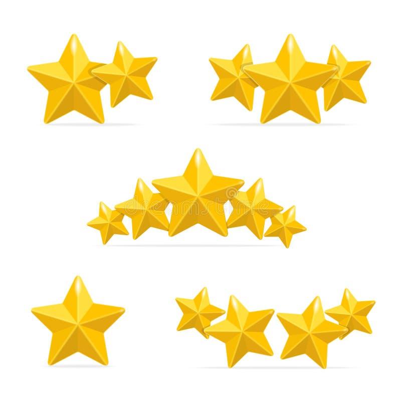 Concepto de las estrellas de los hoteles del grado del vector en negro ilustración del vector
