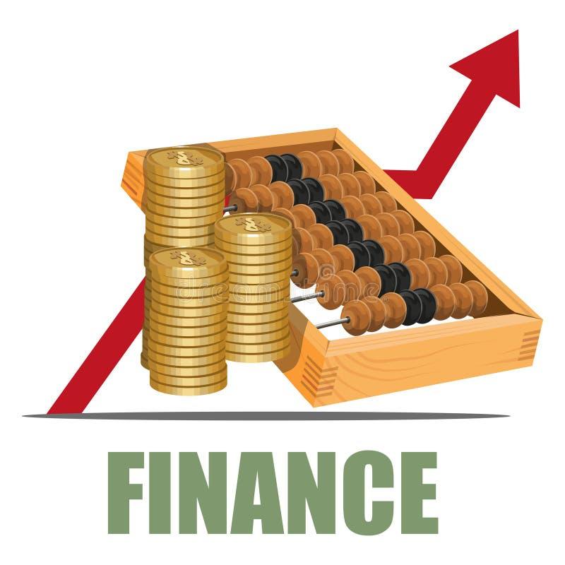 Concepto de las finanzas stock de ilustración