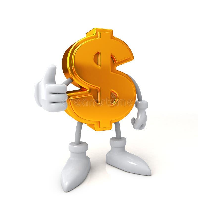 Concepto de las finanzas Buen dólar del trabajo ilustración del vector