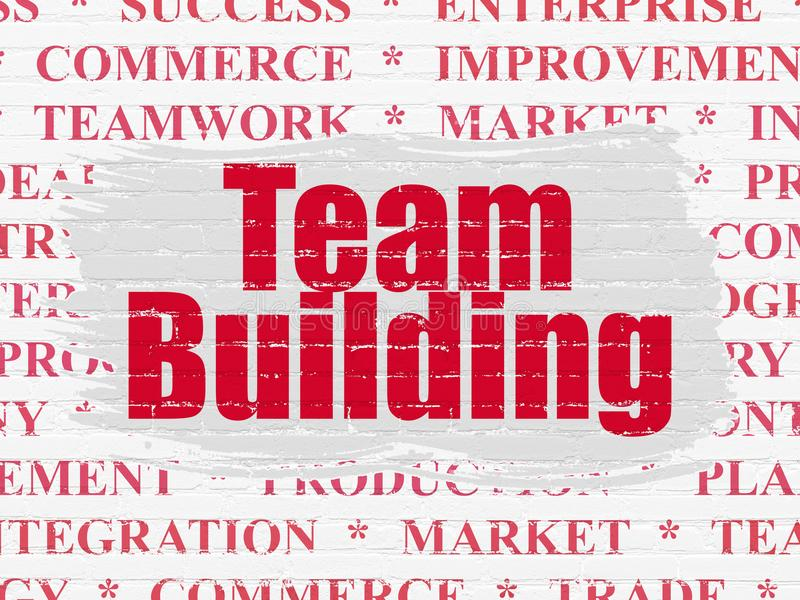 Concepto de las finanzas: Team Building en fondo de la pared libre illustration