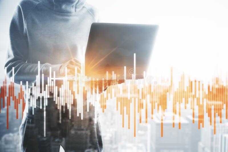 Concepto de las finanzas y de la tecnología imagenes de archivo