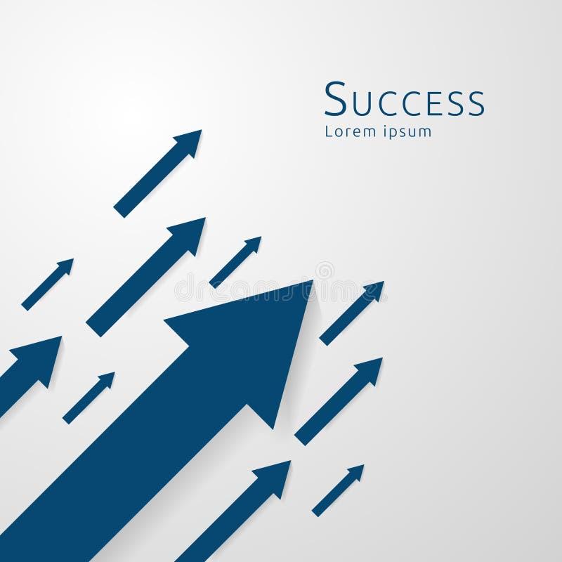 concepto de las flechas del negocio al éxito ventas ascendentes del beneficio del aumento de la carta de crecimiento Dinero de la ilustración del vector