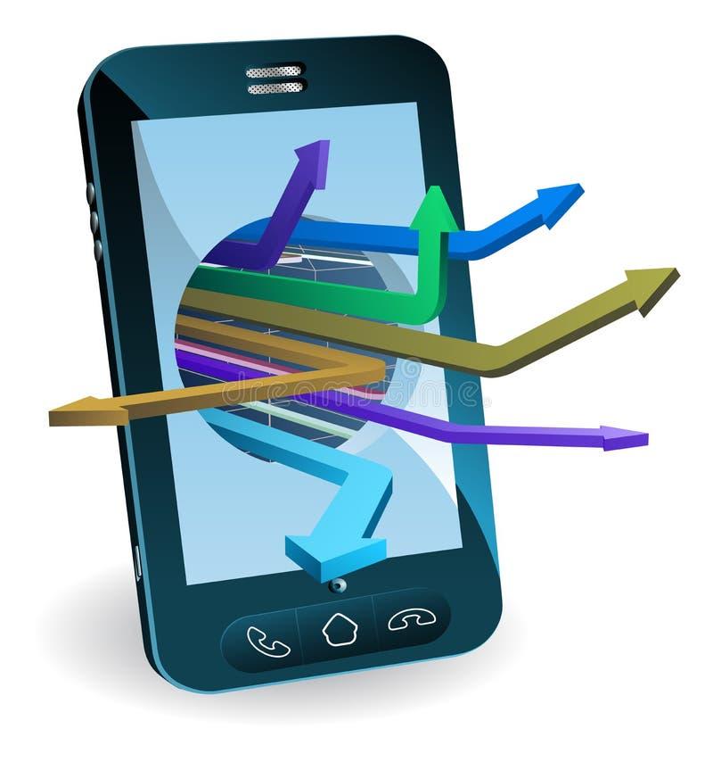 Concepto de las flechas del teléfono libre illustration