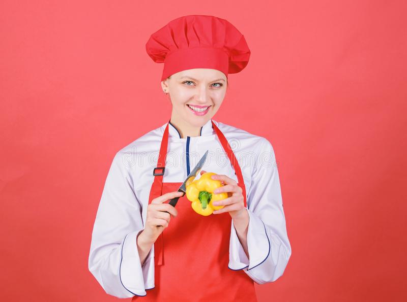 Concepto de las habilidades del cuchillo Elija el cuchillo apropiado Fundamentos culinarios Los mejores cuchillos a comprar Tenga fotografía de archivo