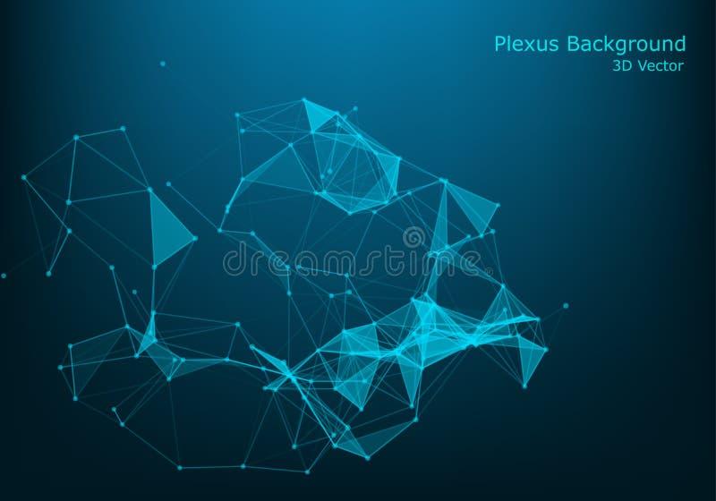 Concepto de las moléculas de neuronas y de sistema nervioso Investigación médica científica Estructura molecular con las partícul libre illustration