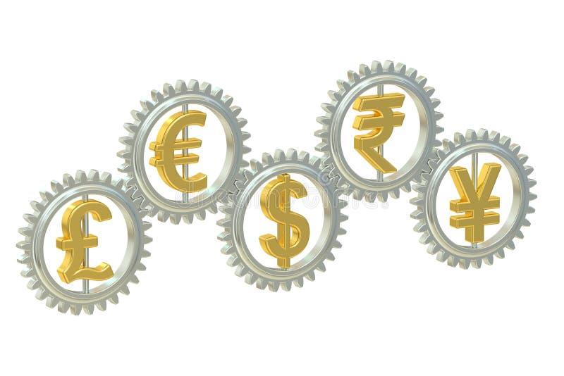 Concepto de las monedas, representación 3D libre illustration