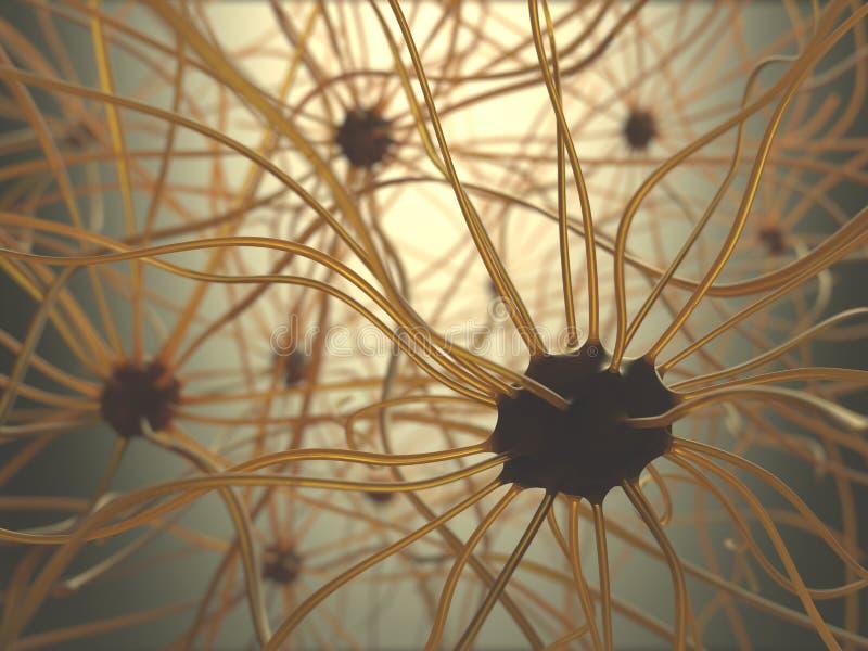 Concepto de las neuronas imagen de archivo libre de regalías