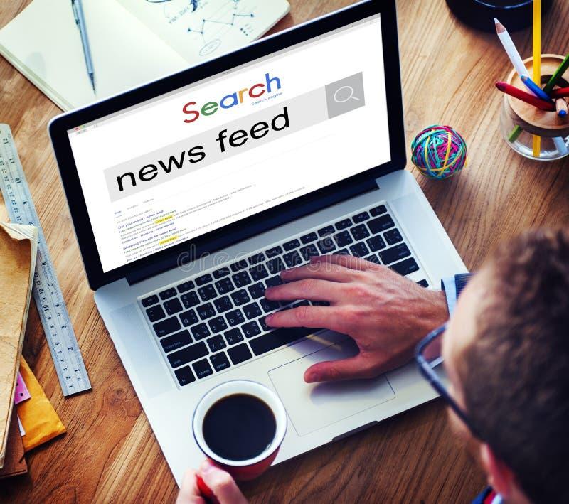 Concepto de las noticias de la lista del aviso de la información del servicio de noticias fotos de archivo libres de regalías