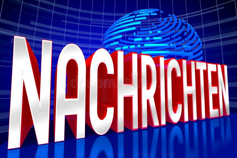Concepto de las noticias - en alemán stock de ilustración