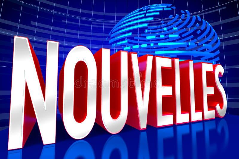 Concepto de las noticias - en francés ilustración del vector