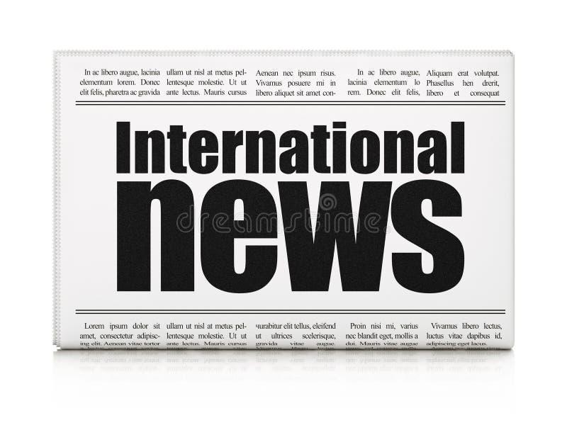 Concepto de las noticias: noticias internacionales del título de periódico libre illustration