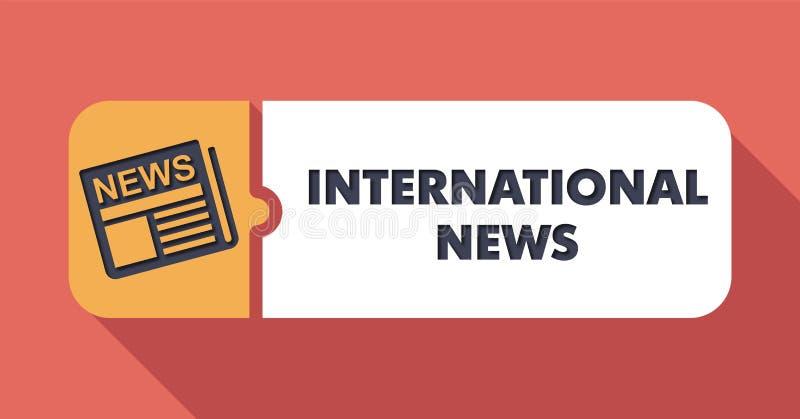 Concepto de las noticias internacionales en diseño plano libre illustration
