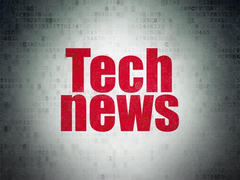 Concepto de las noticias: Noticias de la tecnología en fondo del papel de datos de Digitaces libre illustration