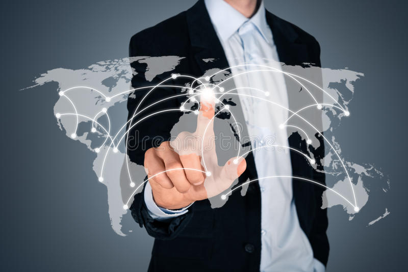 Concepto de las relaciones de negocios globales