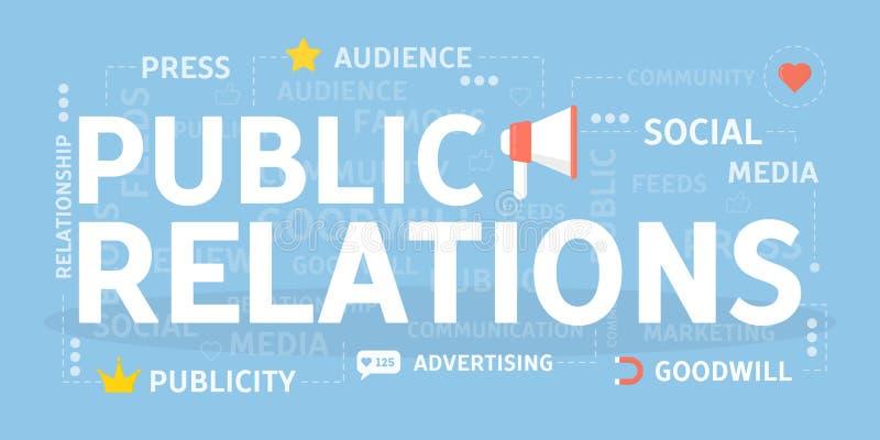 Concepto de las relaciones públicas libre illustration