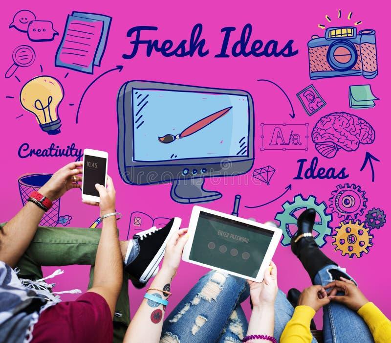 Concepto de las táctica de la sugerencia de la innovación de las ideas frescas imagen de archivo