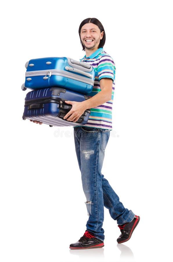 Download Concepto De Las Vacaciones Del Viaje Con Equipaje Imagen de archivo - Imagen de hombre, aislado: 41915343