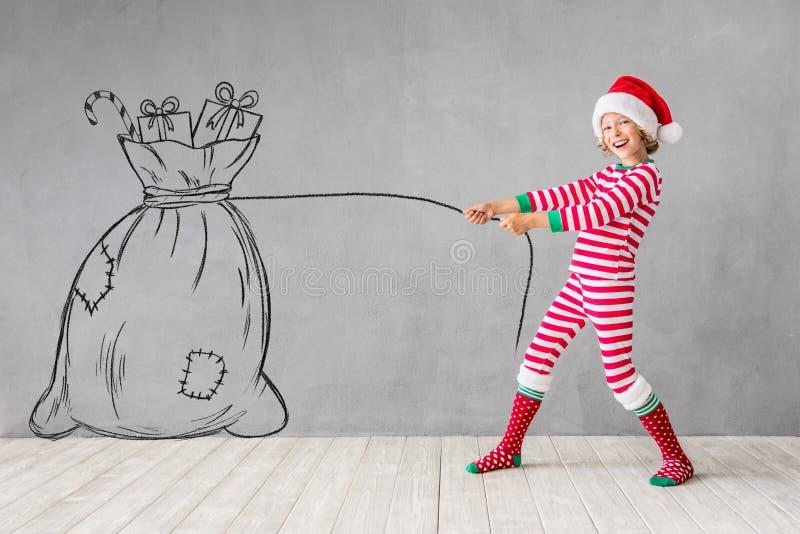 Concepto de las vacaciones de invierno de Navidad de la Navidad imagenes de archivo