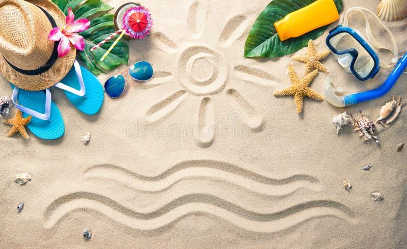 Concepto de las vacaciones de verano fotografía de archivo libre de regalías