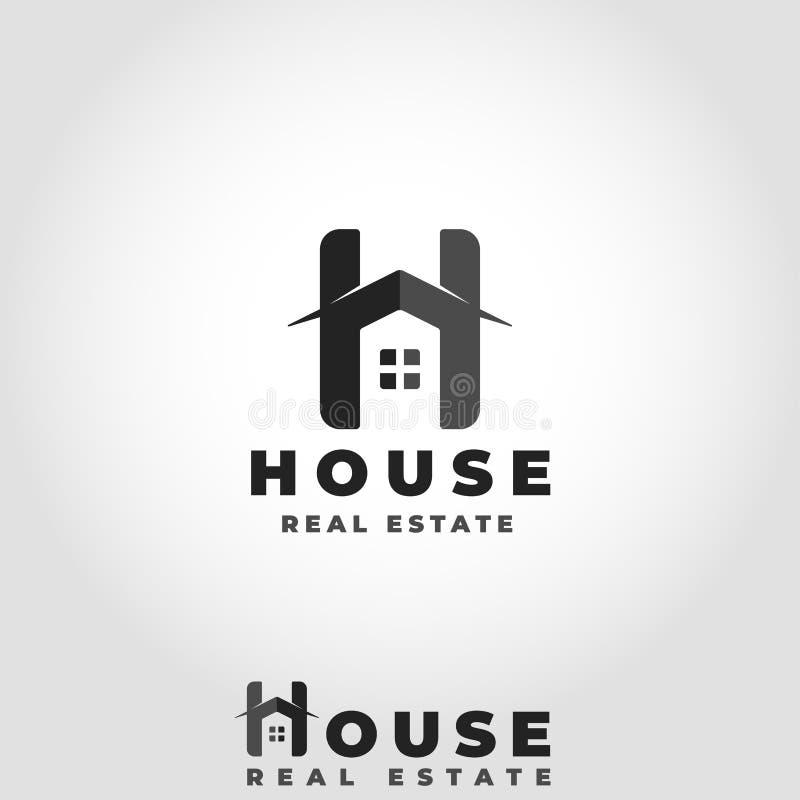 Concepto de Logo With Stylish Letter H de la casa ilustración del vector