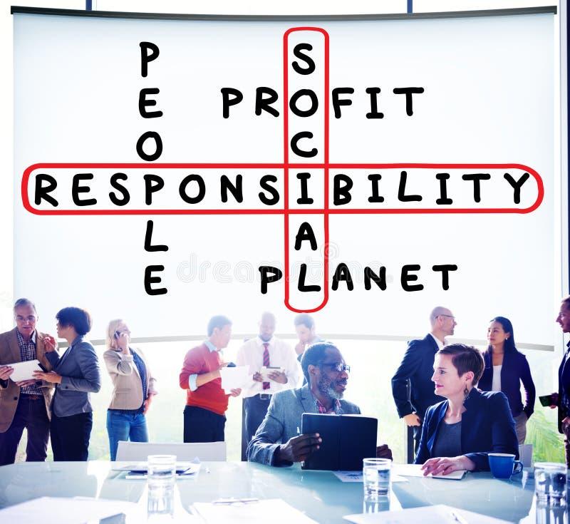 Concepto de los éticas de la formalidad de la confiabilidad de la responsabilidad social fotos de archivo