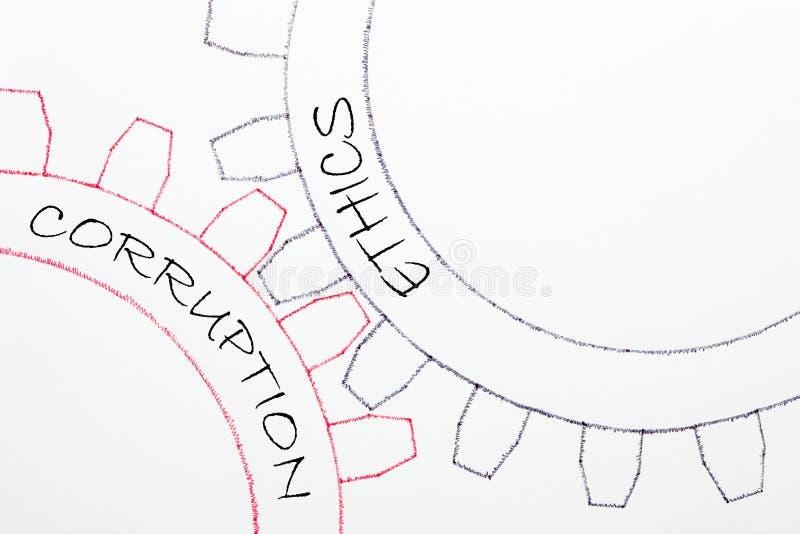 Concepto de los éticas de la corrupción ilustración del vector