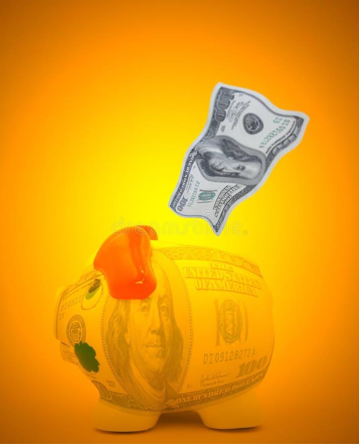 Concepto de los ahorros del dólar ilustración del vector