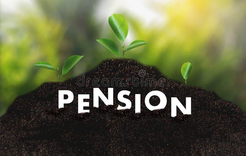 Concepto de los ahorros del dinero de la pensión y retiro y peopl financieros imagenes de archivo