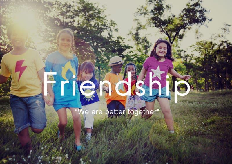 Concepto de los amigos del socio de la unidad de la amistad junto imagen de archivo libre de regalías