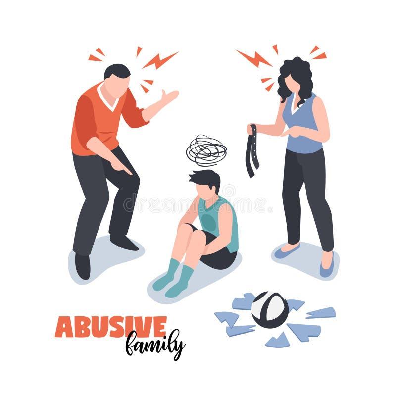 Concepto de los conflictos de la familia libre illustration
