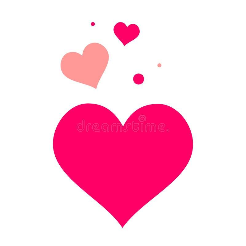 Concepto de los corazones del amor del vector Ejemplo plano de casarse amor s?mbolo de la muestra de la tarjeta del d?a de San Va libre illustration