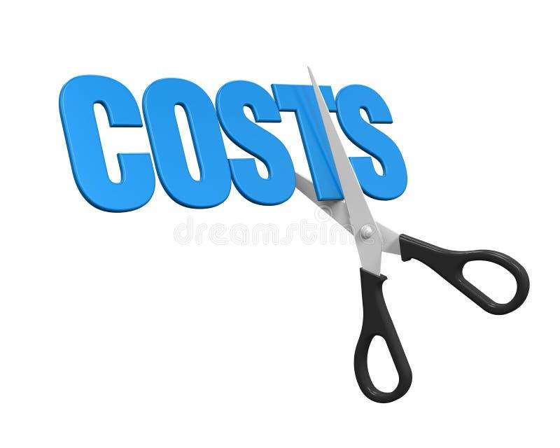 Concepto de los cortes de los costes ilustración del vector