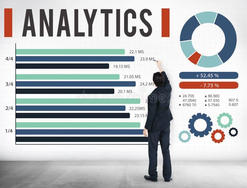 Concepto de los datos de la estrategia de las estadísticas de la información del Analytics fotos de archivo libres de regalías