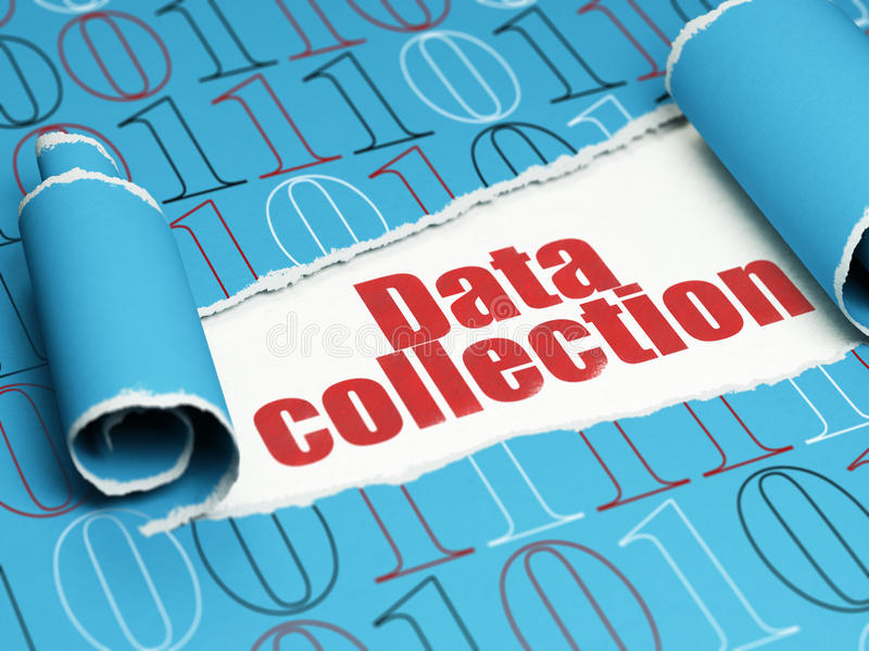 Concepto de los datos: recopilación de datos roja del texto debajo del libre illustration