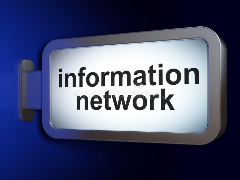 Concepto de los datos: Red de información en fondo de la cartelera libre illustration