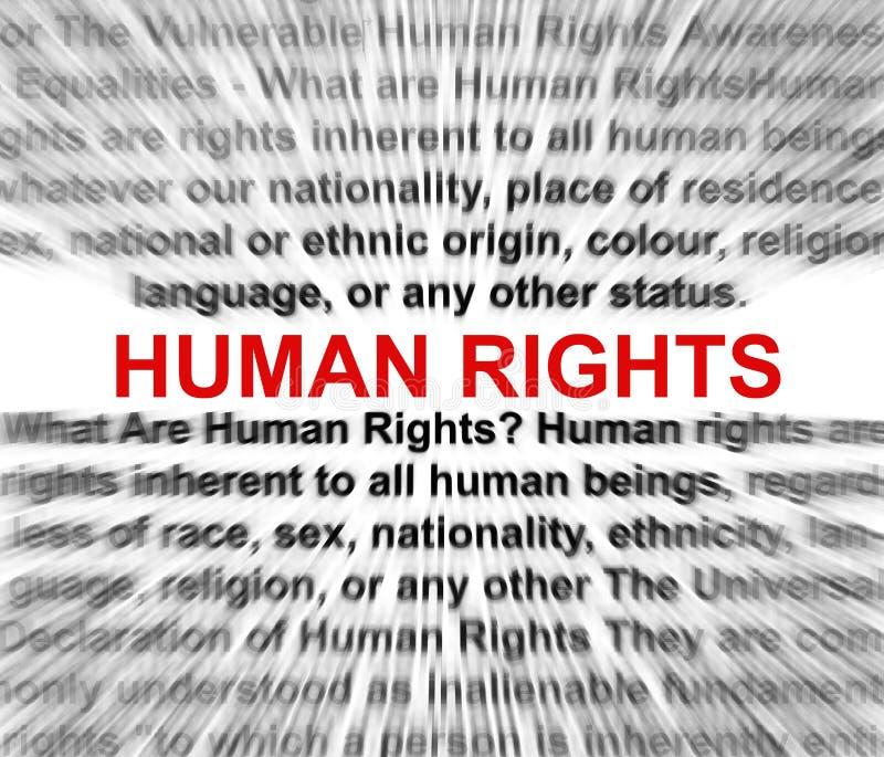 Concepto de los derechos humanos libre illustration