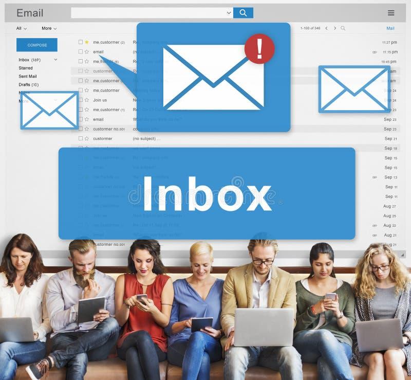 Concepto de los gráficos de la comunicación electrónica del buzón de entrada del correo electrónico imagen de archivo libre de regalías
