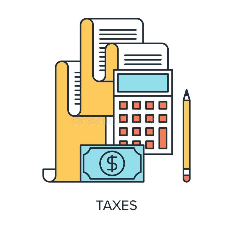 Concepto de los impuestos ilustración del vector
