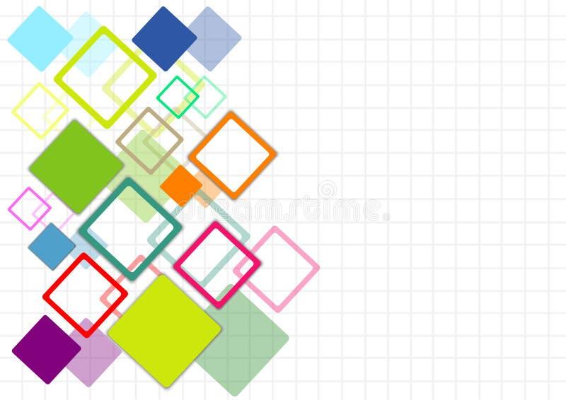 concepto de los multicolors del cuadrado del diseño de la cubierta ilustración del vector
